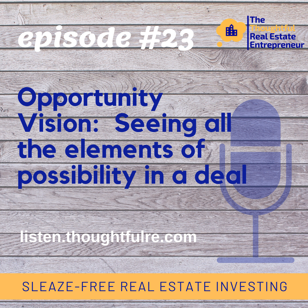 SFREI #23:  Opportunity Vision–Seeing all the elements of possibility in a deal